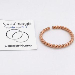 Handmade Spiral Style Copper Bangle