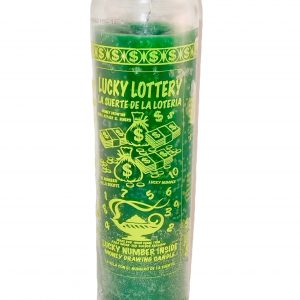 Lucky Lottery 7 Day Glass Candle