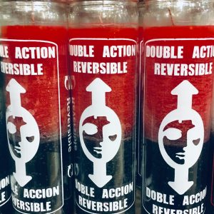 Double Action Reversible: 7 Day Glass Candle