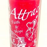 Attraction 7 day Glass Candle