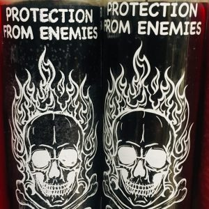 Protection From Enemies: 7 Day Glass Candle