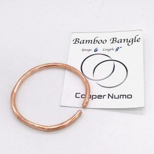 Handmade Bamboo Style Copper Bangle